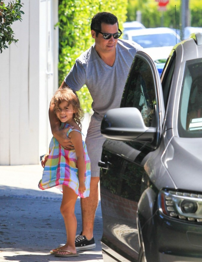Cash Warren et sa fille Honor à Hollywood, le 5 août 2012.
