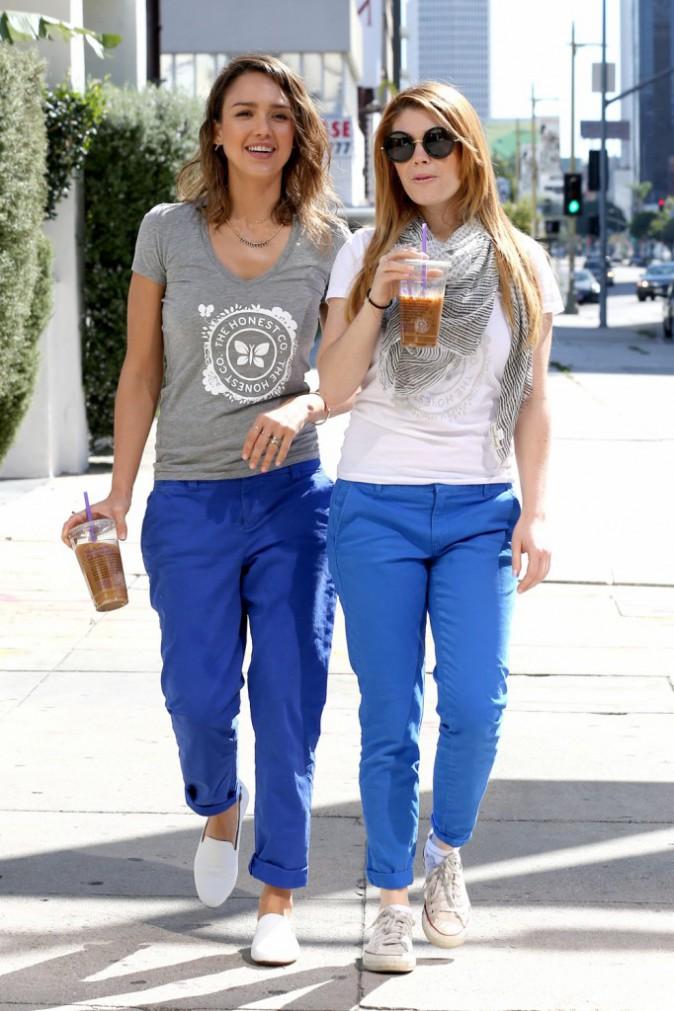Jessica Alba et Lauren Andersen à Beverly Hills, le 16 mars 2014.