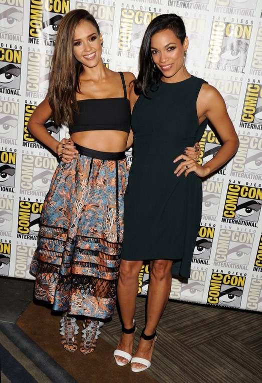Jessica Alba et Rosario Dawson au Comic-Con de San Diego le 26 juillet 2014