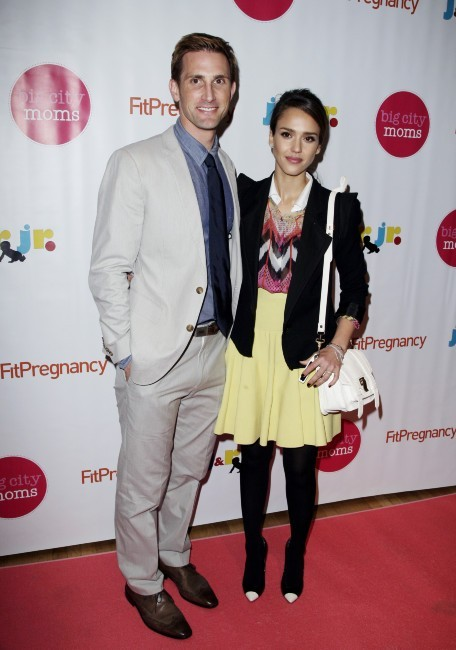 Jessica Alba et Christopher Gavigan lors de la 13e Biggest Baby Shower Ever à New York, le 9 mai 2012.