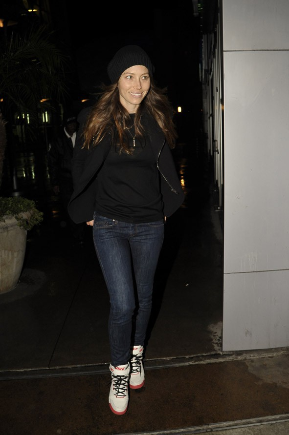 Jessica Biel à Los Angeles le 25 avril 2014