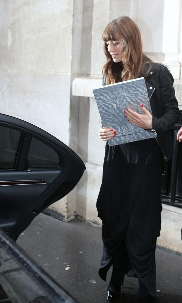Jessica Biel le 8 octobre 2012 à Paris