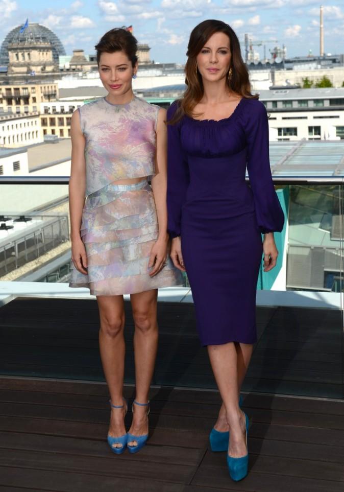 Jessica Biel et Kate Beckinsale, Berlin, 13 août 2012.