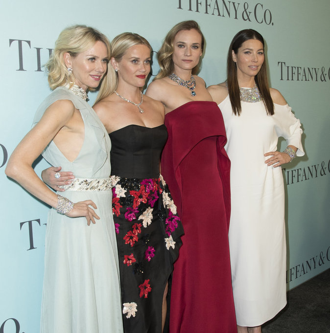 Jessica Biel et son gang de filles assistent au gala Tiffany's !