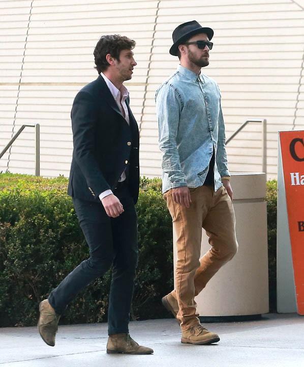 Justin Timberlake à Century City le 5 février 2015