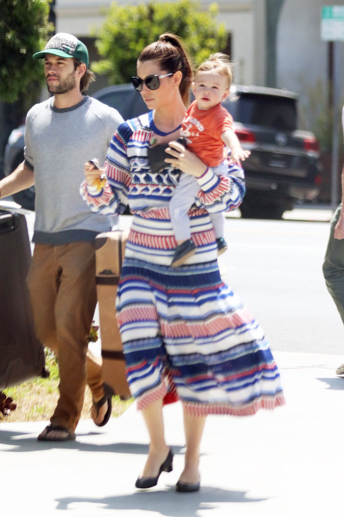 Photos : Jessica Biel : Silas, futur beau gosse !