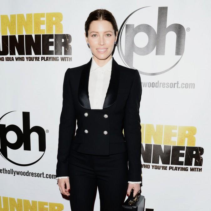 Jessica Biel lors de la première du film Players à Las Vegas, le 18 septembre 2013.