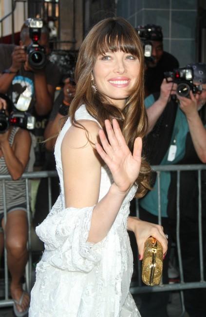 Jessica Biel lors de la première du film Total Recall à New York, le 2 août 2012.