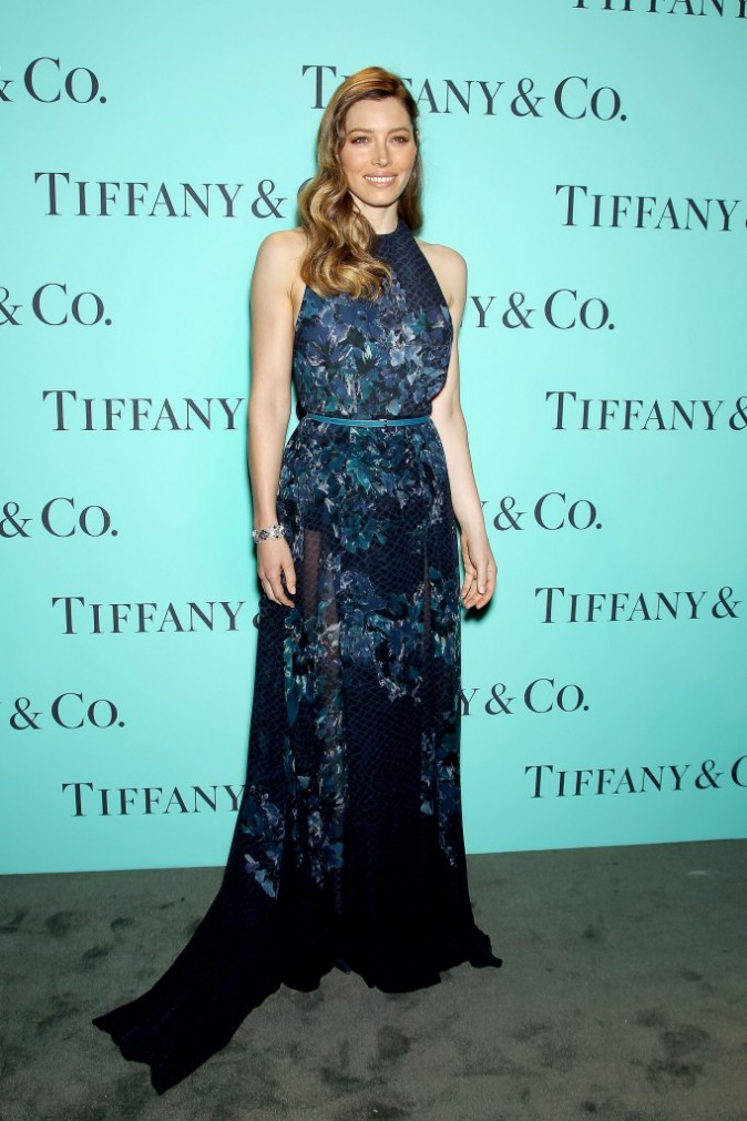 Jessica Biel lors du gala Tiffany & Co. Blue Book Ball à New York, le 18 avril 2013.