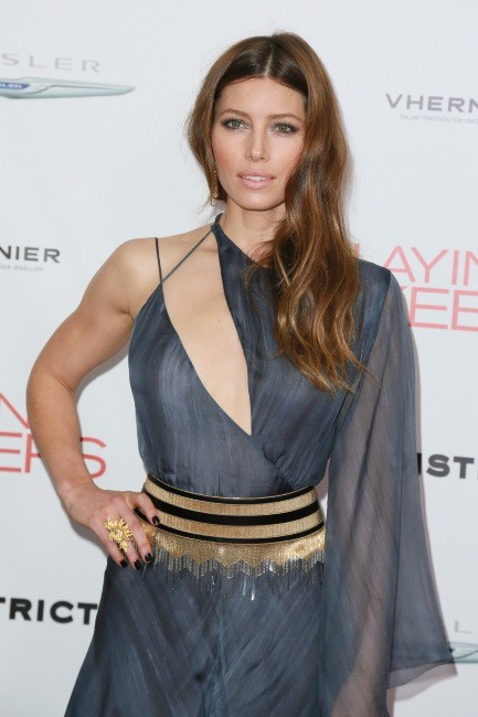 """Jessica Biel lors de la première du film """"Playing for Keeps"""" à New York, le 5 décembre 2012."""