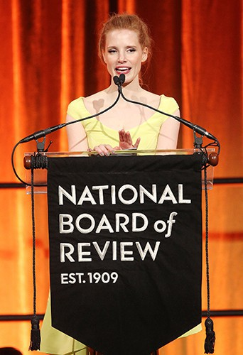Jessica Chastain à New-York le 7 janvier 2014