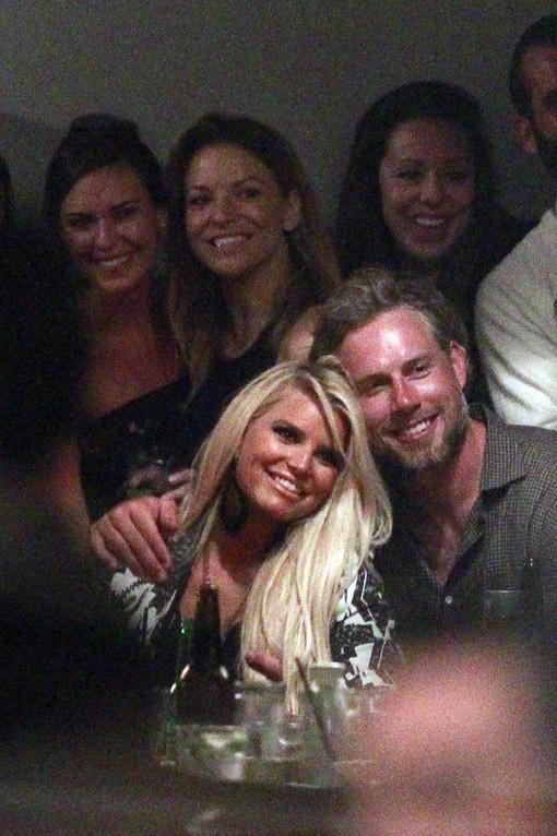 Jessica Simpson à Los Angeles pour fêter l'anniversaire d'Eric Johnson le 13 septembre 2013