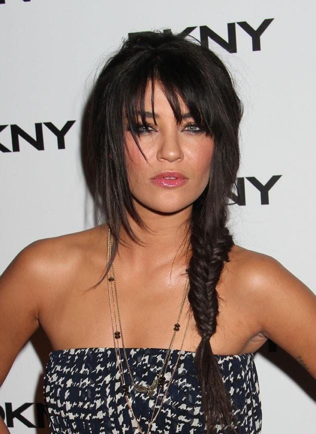 Jessica Szohr lors de la soirée de lancement de la nouvelle collection de lunettes DKNY à New York, le 26 juillet 2011.