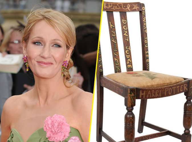 Photos : JK Rowling (Harry Potter) vend son trône 344.000 euros !
