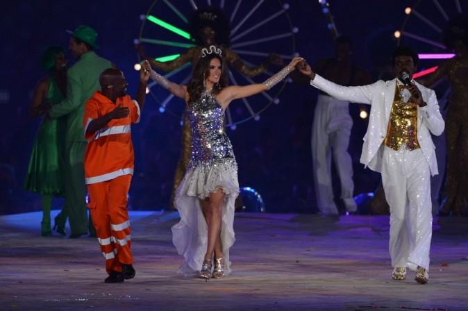 Alessandra Ambrosio à la cérémonie de clôture des Jeux Olympiques de Londres le 12 août 2012
