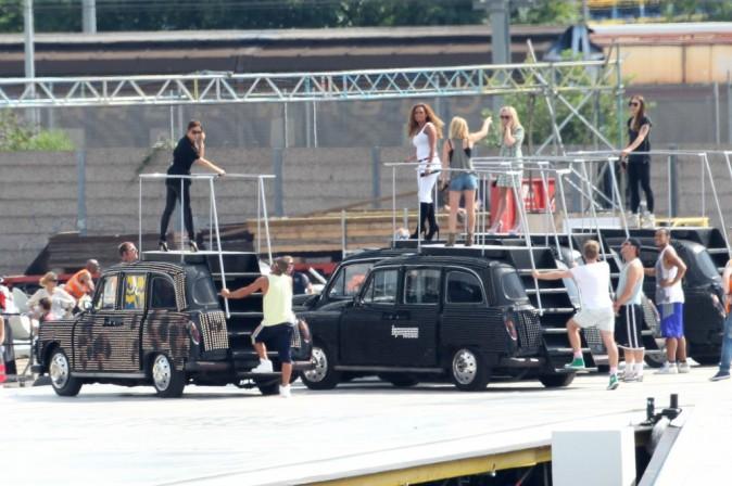 Les Spice Girls en répétitions à Londres, le 9 août 2012.