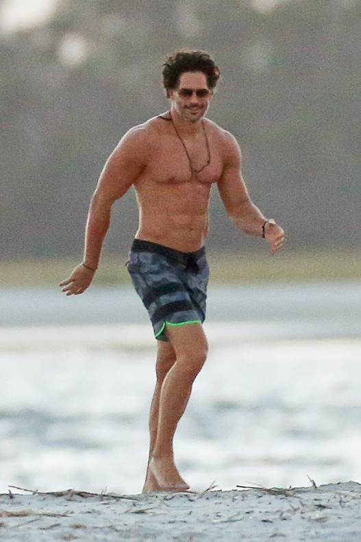 Joe Manganiello sur le tournage de Magic Mike XXL à Savannah le 9 octobre 2014