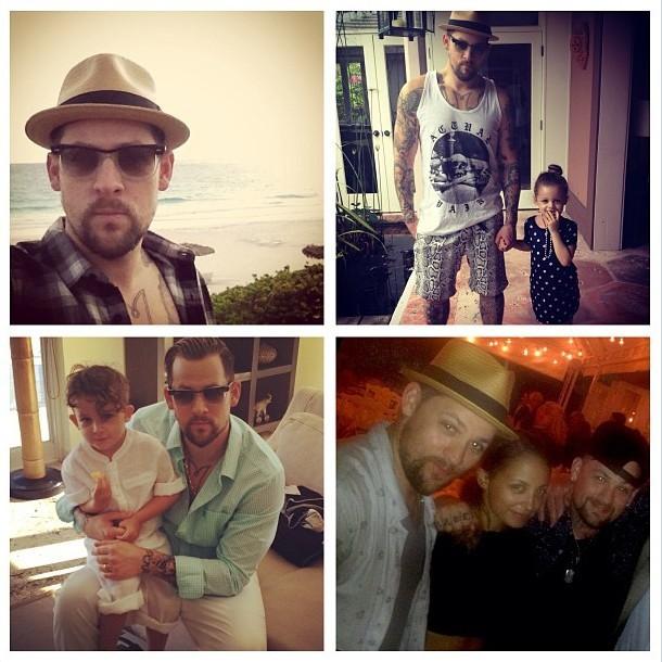 Joel Madden publie des clichés de sa famille le 9 janvier 2013