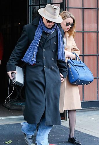 Johnny Depp et Amber Heard à New York le 22 mars 2014