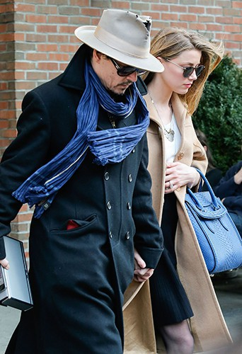 Johnny Depp et Amber Heard à New York le 22 mars 2014