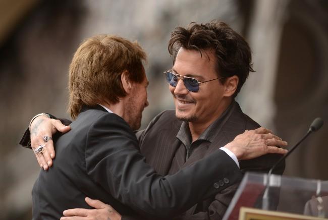 Johnny Depp et Jerry Bruckheimer le 24 juin 2013 à Los Angeles