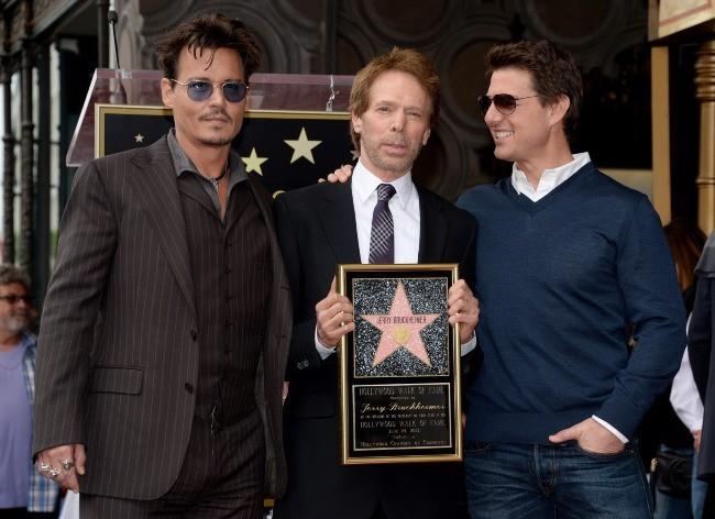 Johnny Depp, Jerry Bruckheimer et Tom Cruise le 24 juin 2013 à Los Angeles