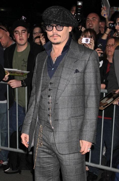 Johnny Depp hier à l'avant-première de Rhum Express à New-York