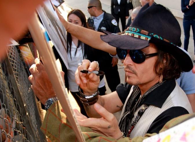 Johnny Depp le 8 mai 2012 à Hollywood