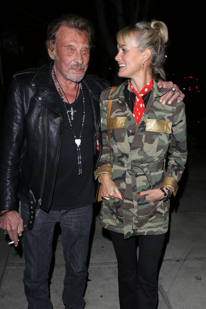 Johnny et Laeticia Hallyday le 8 avril 2015