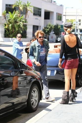 Laeticia et Johnny Hallyday, Los Angeles, 13 septembre 2012.