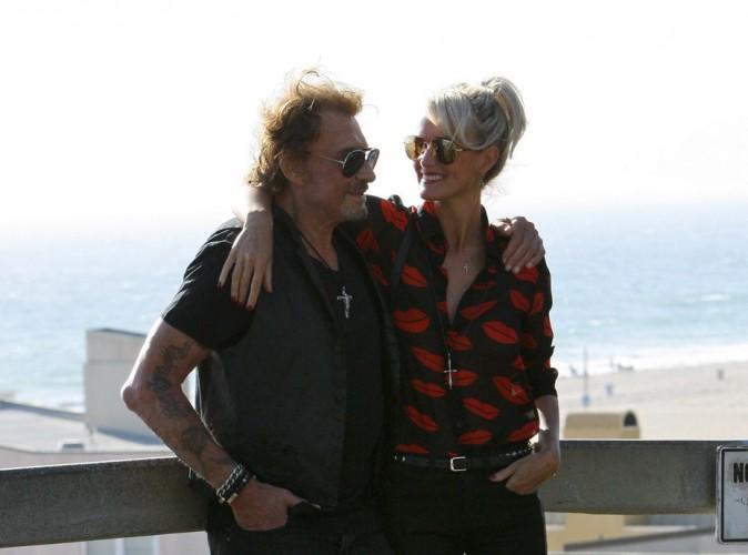 Johnny et Laeticia Hallyday à Santa Monica, le 27 septembre 2014