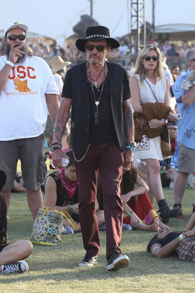 Photos : Johnny Hallyday : il s'éclate avec sa femme à Coachella !