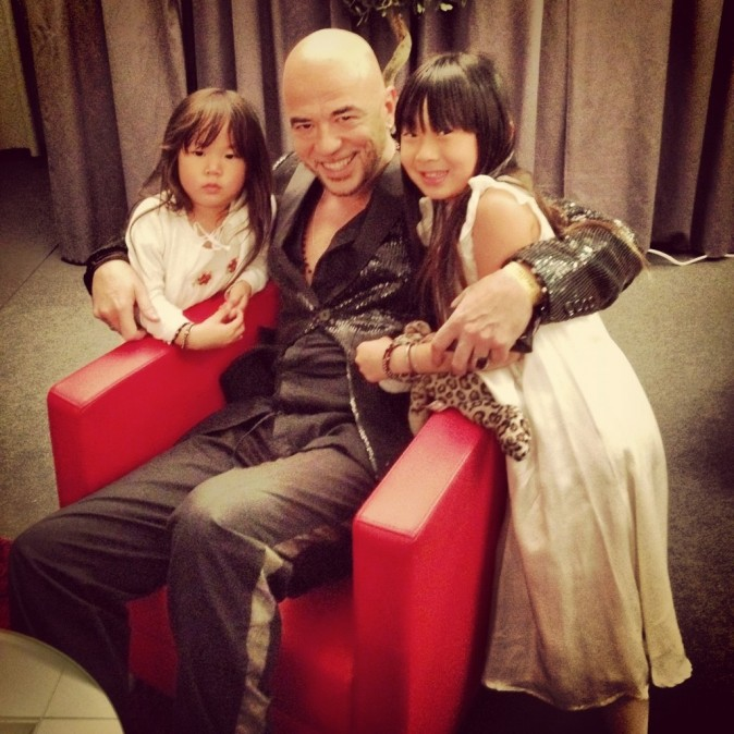 Joy, Jade et Pascal Obispo