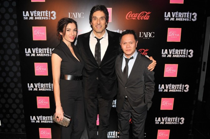 Aure Atika, Vincent Elbaz et Jean-Claude Tran lors de l'after-party du film La Vérité Si Je Mens 3 à L'Arc à Paris, le 30 janvier 2012.