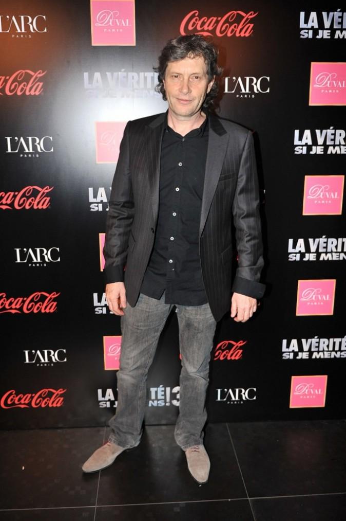 Le réalisateur Thomas Gilou lors de l'after-party du film La Vérité Si Je Mens 3 à L'Arc à Paris, le 30 janvier 2012.