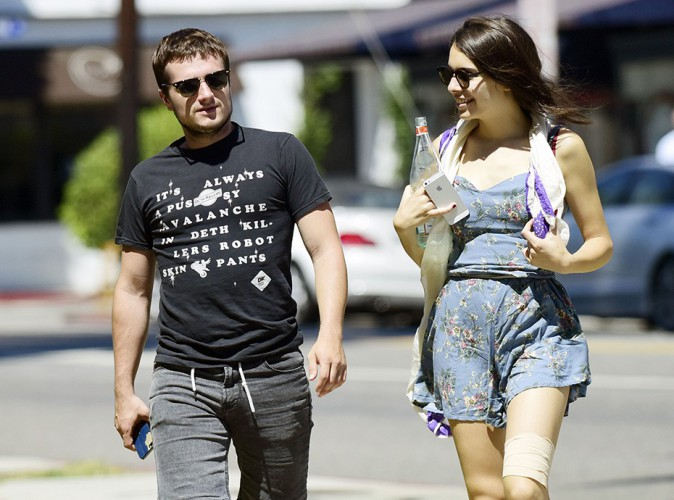Josh Hutcherson et Claudia Traisac à Los Angeles le 25 août 2014