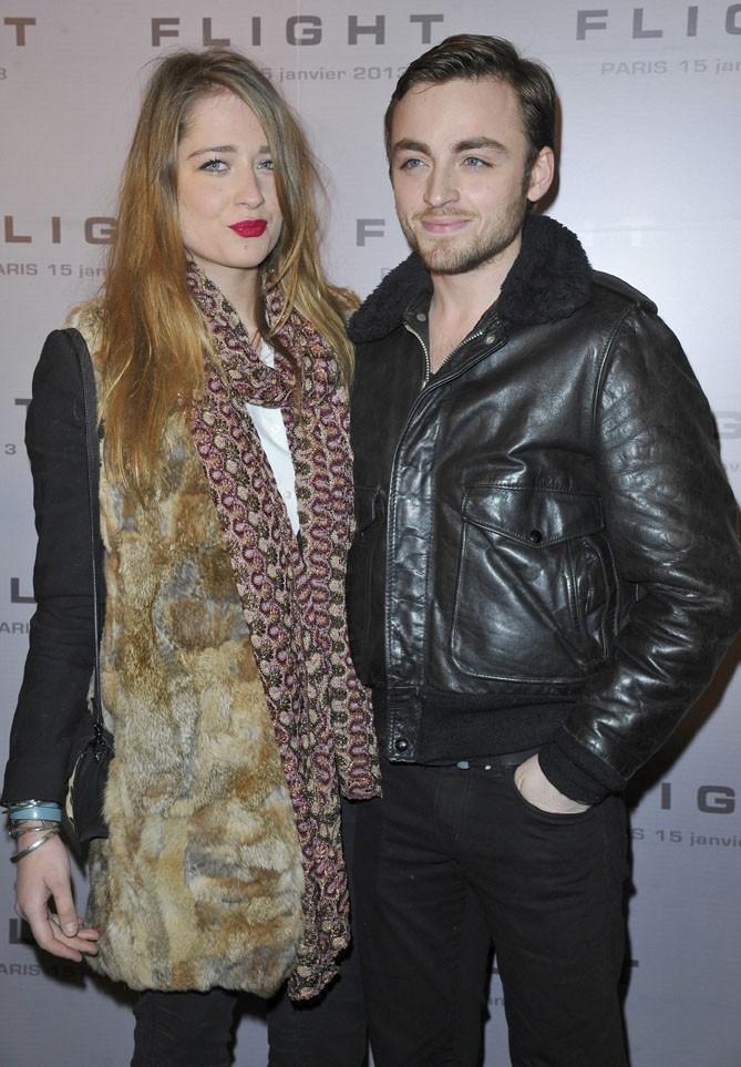 Jules Pelissier et sa girlfriend Marie à l'avant-première de Flight à Paris le 15 janvier 2013