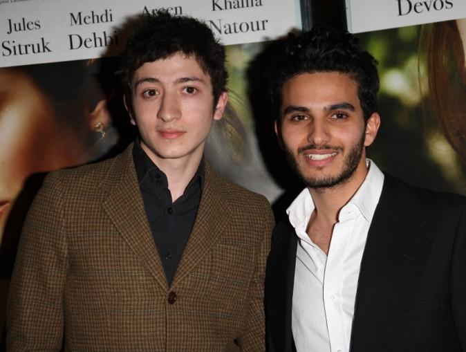 Avec Mehdi Dhebi, son partenaire dans Le fils de l'autre !