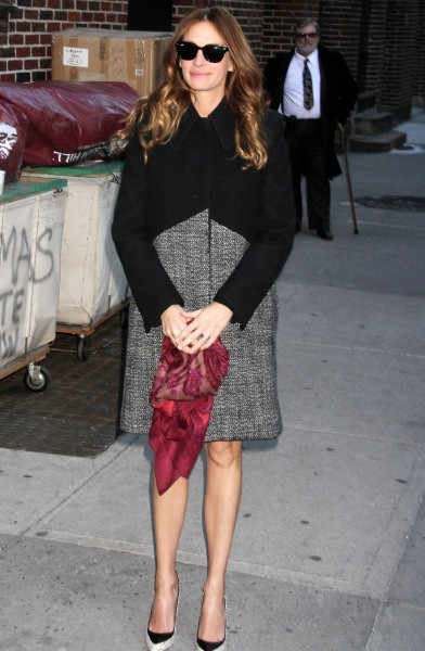 Julia Roberts en promo à New York, le 12 décembre 2013.