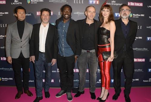 L'équipe du film Qu'est-ce qu'on a fait au bon Dieu ? aux Trophées du film Français à Paris, le 12 février 2015
