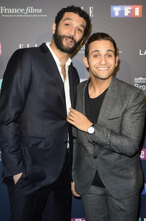 Malik Bentelha et Ramzy Bedia aux Trophées du Film Français à Paris, le 12 février 2015