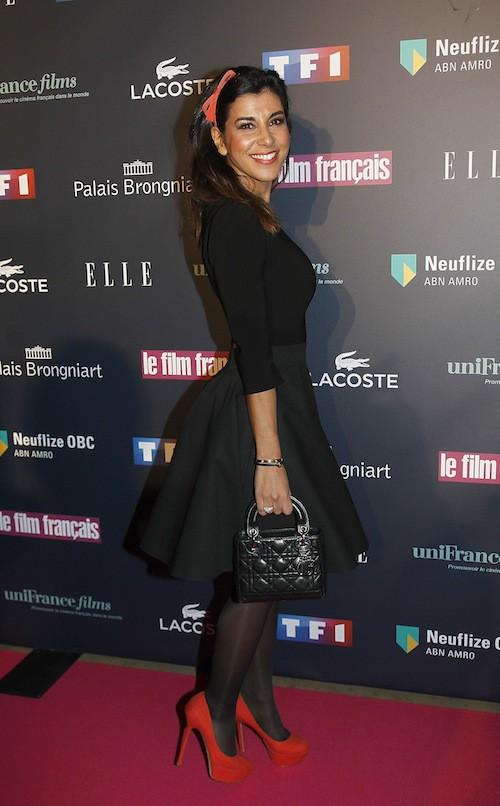 Reem Kherici aux Trophées du Film Français à Paris, le 12 février 2015