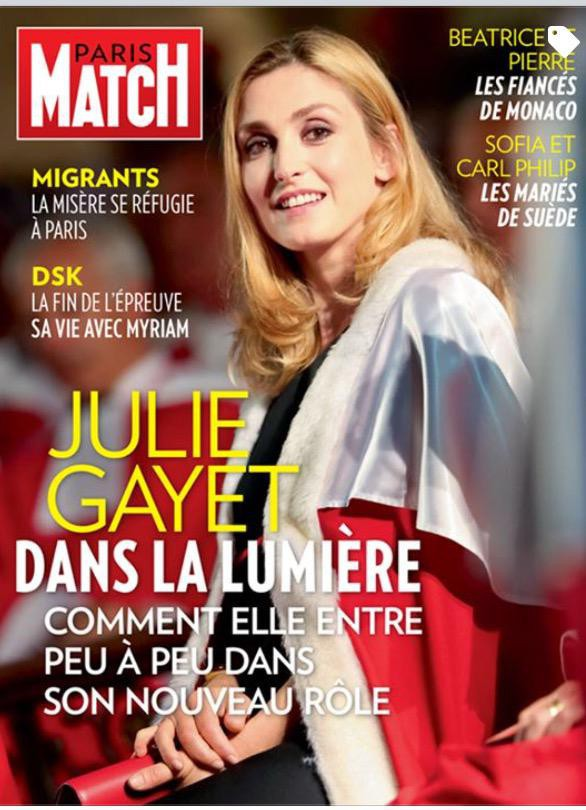 Julie Gayet en couverture de Paris Match