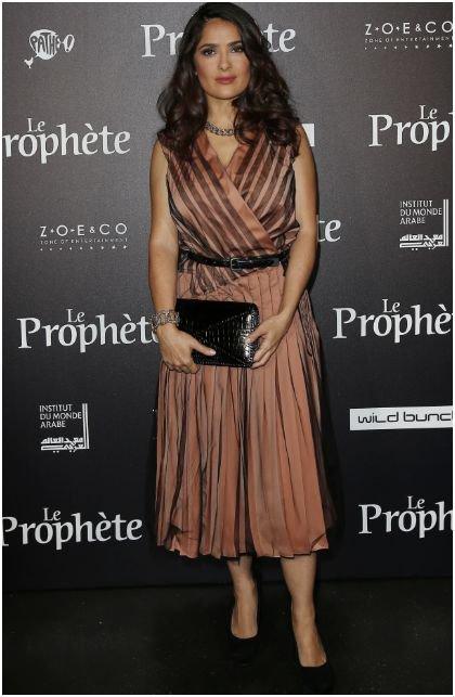 Photos : Julie Gayet radieuse et bien entourée face à la sublime Salma Hayek !