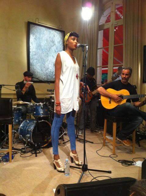 Imany lors de son concert pour l'émission Talent Tout Neuf, le 17 juin 2011.