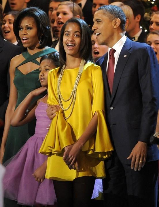 Les Obama tous en choeur !