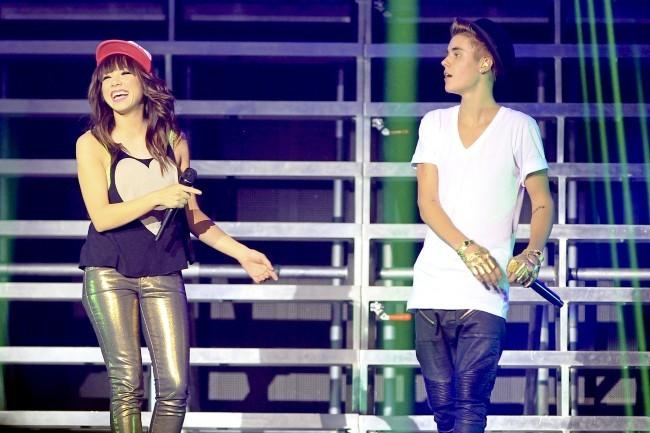 Justin Bieber et Carly Rae Jepsen le 16 octobre au Canada