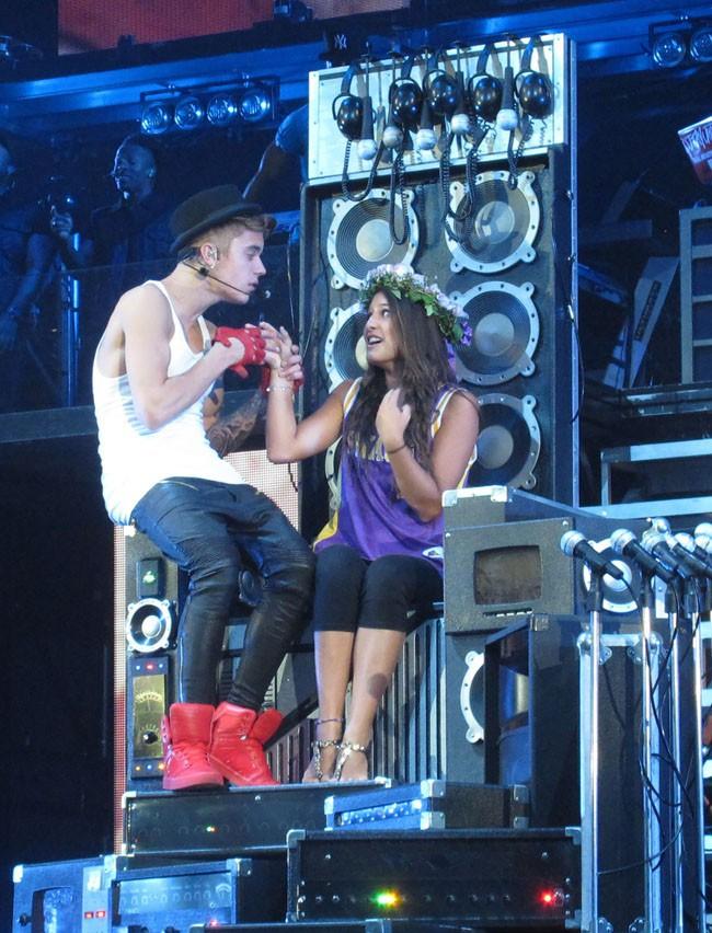 Justin Bieber en concert à Brooklyn le 2 août 2013