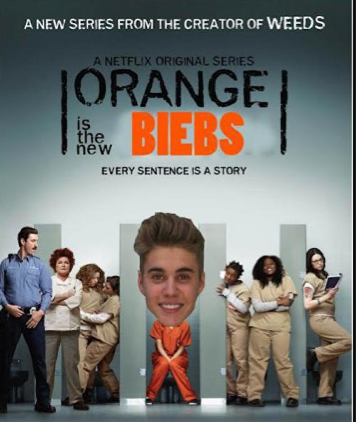 """Photos : Justin Bieber : son """"mugshot"""" pris par la police parodié par les internautes !"""