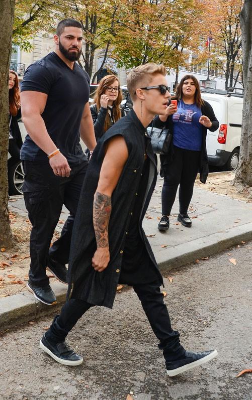 Justin Bieber à Paris le 30 septembre 2014